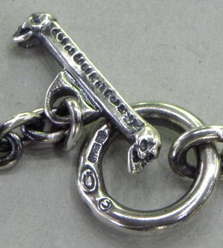 画像3: Quarter Skull On Quarter Chain Bracelet