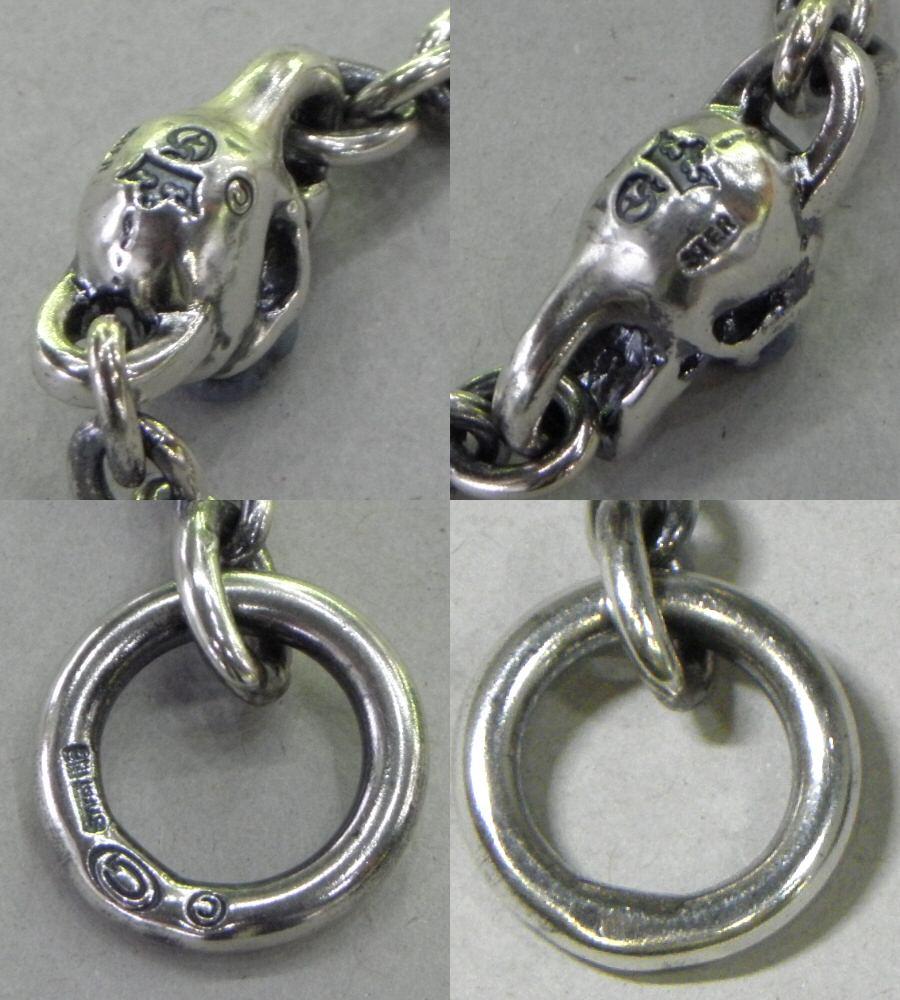 画像5: Quarter Skull On Quarter Chain Bracelet