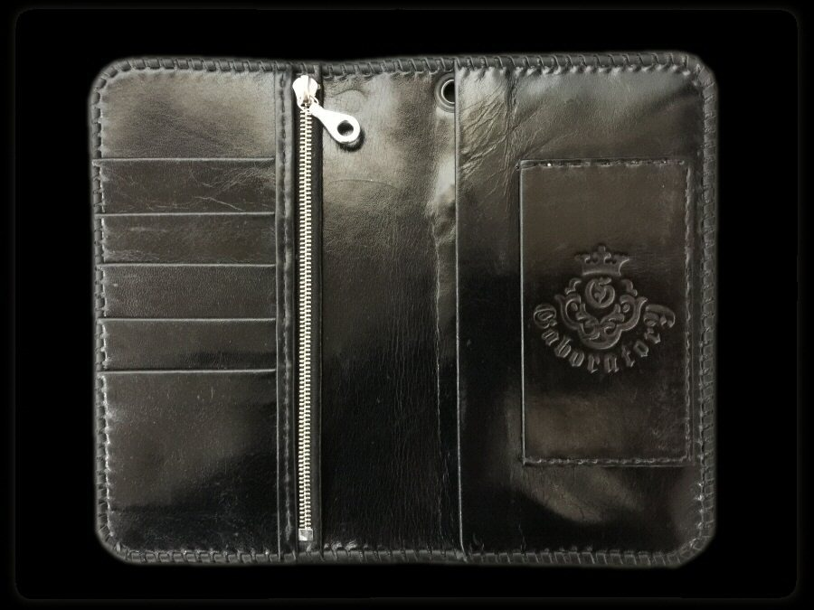 画像2: Ostrich Leg G&Crown Inlay Elephant Check Book