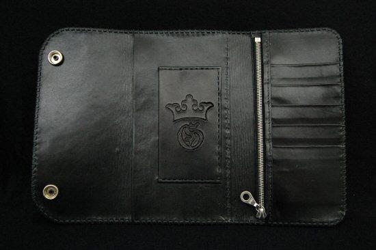 画像4: Crocodile Cross Inlay Buffalo Long Wallet