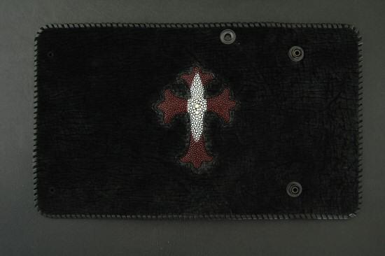 画像3: Stingray(Star) Cross Inlay Hippo Long Wallet