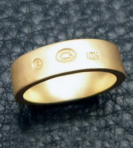 画像5: 10k Gold Flat Bar Ring With Out Maltese Cross (Pure Gold Color Finish)