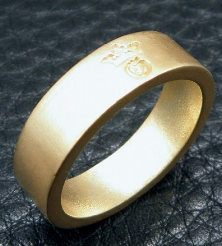 画像4: 10k Gold Flat Bar Ring With Out Maltese Cross (Pure Gold Color Finish)