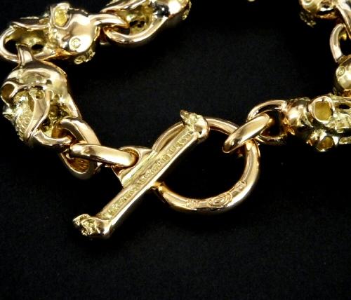 画像5: 18k 7 Skull Bracelet
