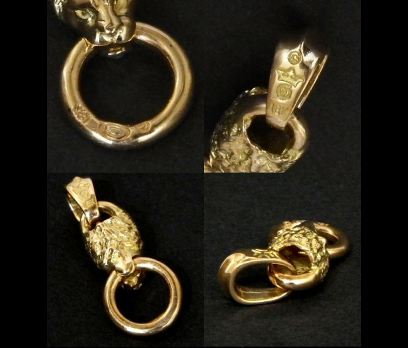 画像5: 18k Quarter Lion Pendant