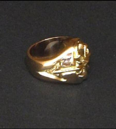 画像3: 18k Cross Oval Signet Ring