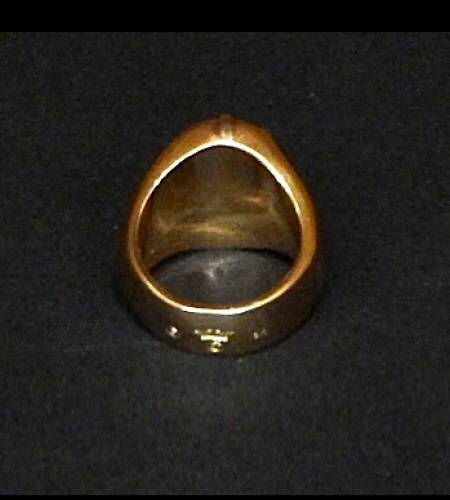 画像5: 18k Cross Oval Signet Ring