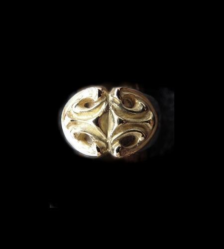 画像1: 18k Gold Sculpted Oval On Ring