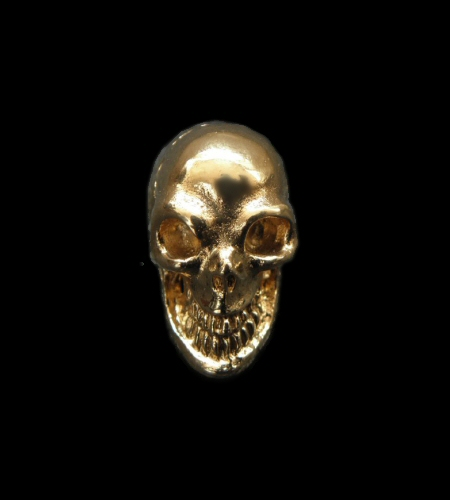 画像1: 18k Gold Single Skull Beads