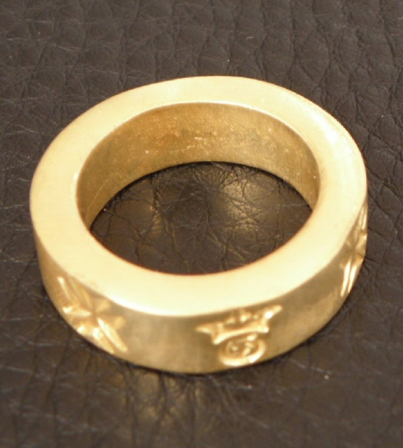画像2: Gold Flat Bar Ring Bold
