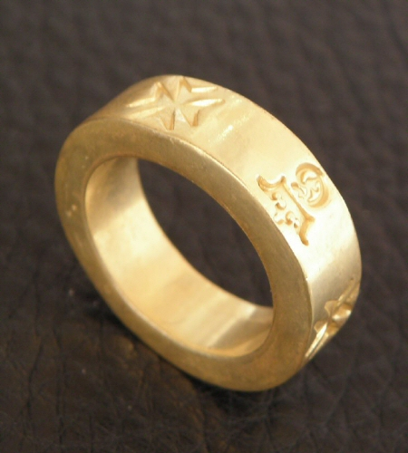画像3: Gold Flat Bar Ring Bold