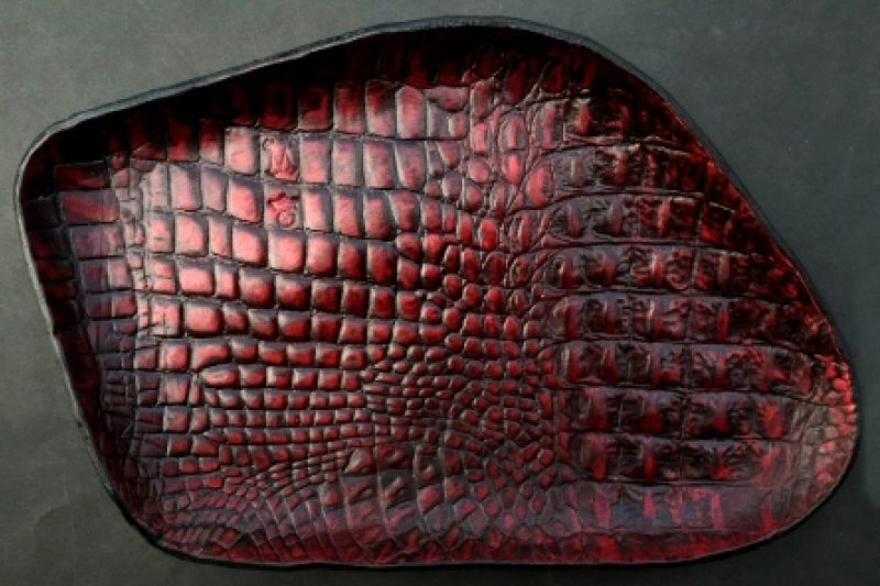 画像2: Gaboratory Alligator Textured Leather Gun Tray  [Red]
