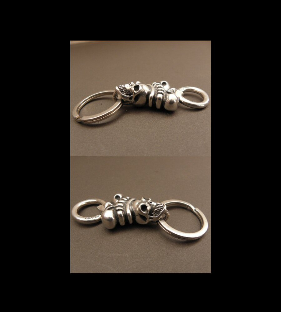 画像2: Skull Large Crown Loop Hook Key Keeper