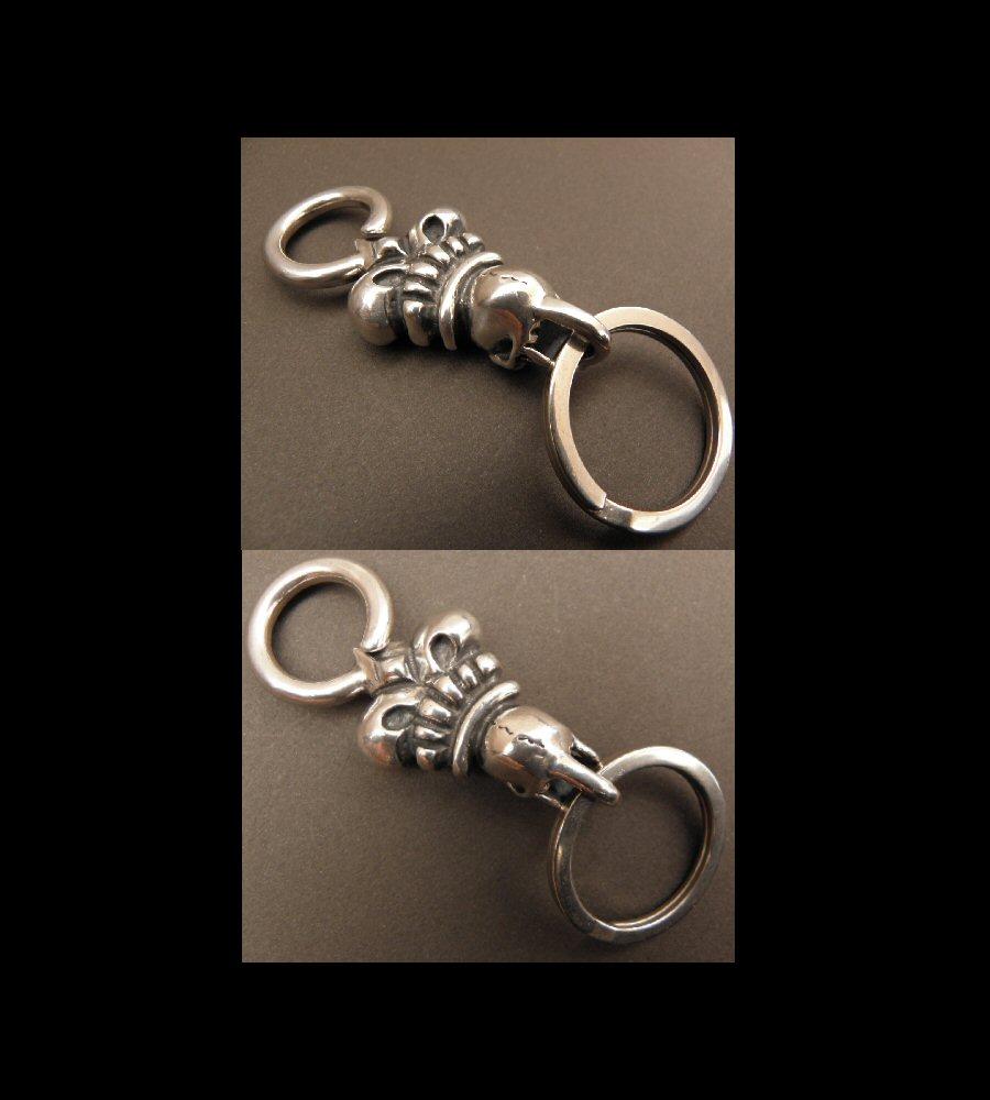 画像3: Skull Large Crown Loop Hook Key Keeper