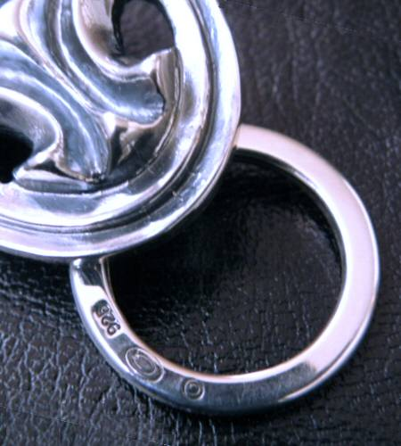 画像5: Sculpted oval on clip with key ring