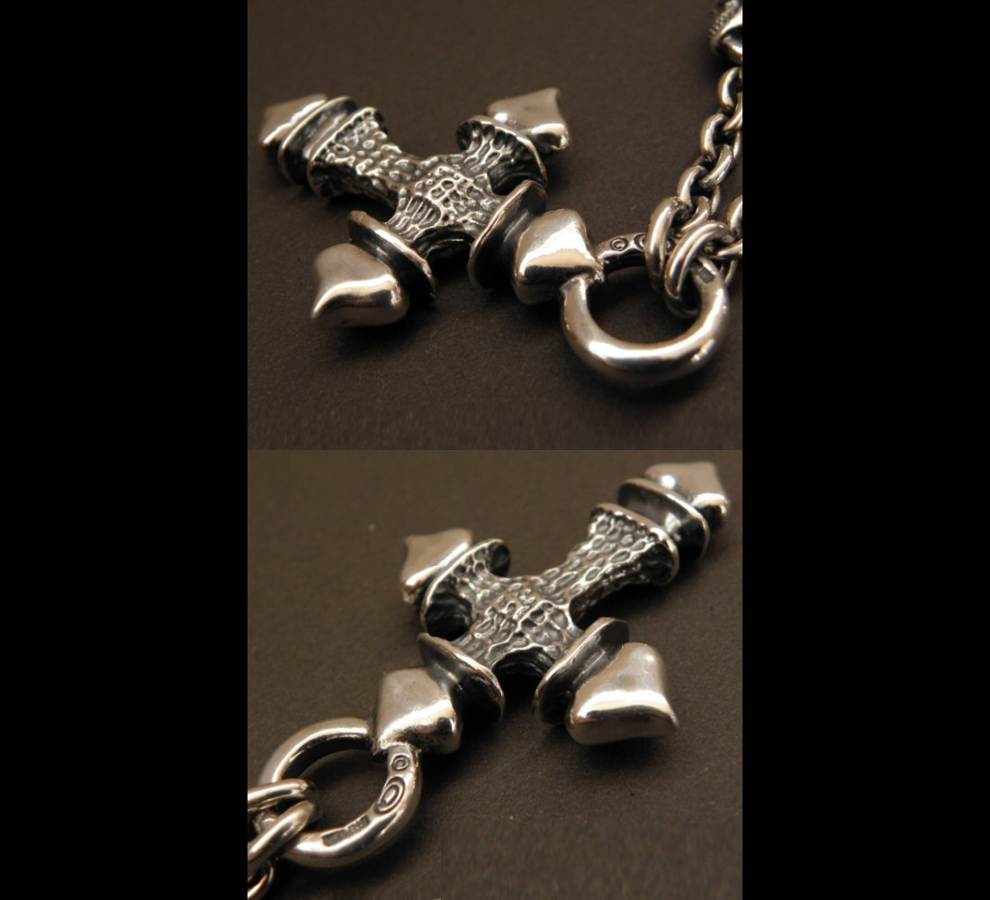 画像2: Gaborartory Quarter FT Cross With 2Quarter Skulls & 6Chain Necklace