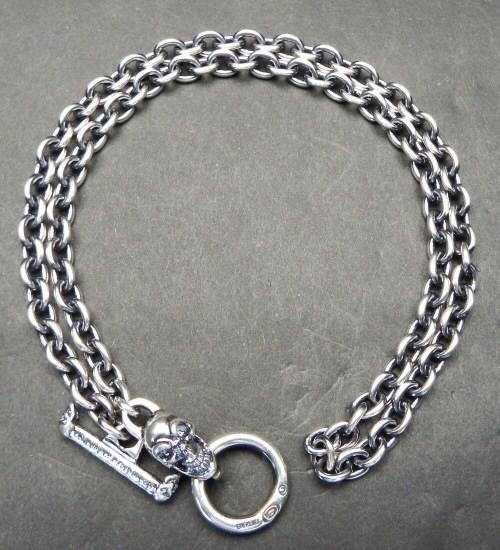 画像3: 6Chain with quarter skull & quarter T-bar necklace