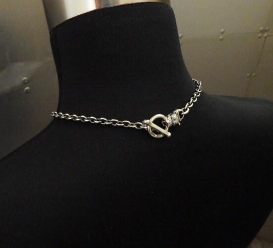 画像2: 6Chain with quarter bulldog & quarter T-bar necklace