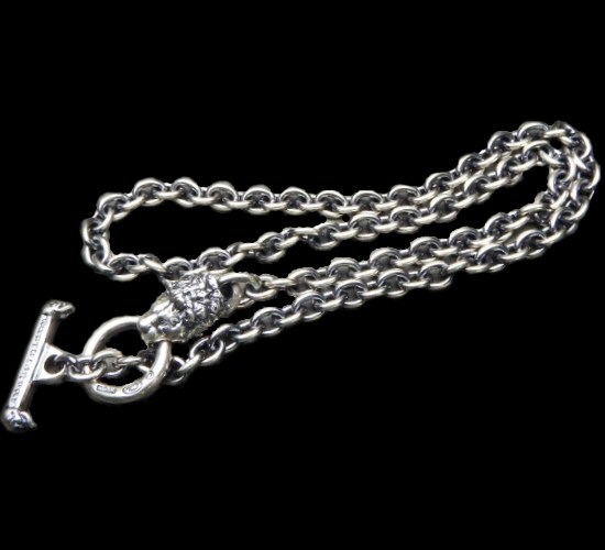 画像1: 6Chain with quarter lion & quarter T-bar necklace