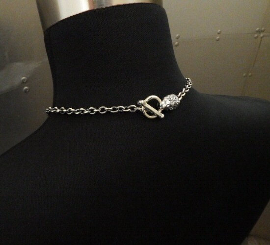 画像2: 6Chain with quarter lion & quarter T-bar necklace
