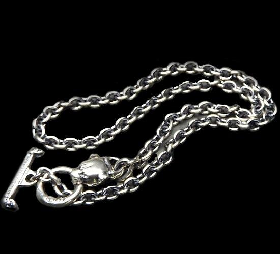 画像1: 6Chain with quarter panther & quarter T-bar necklace