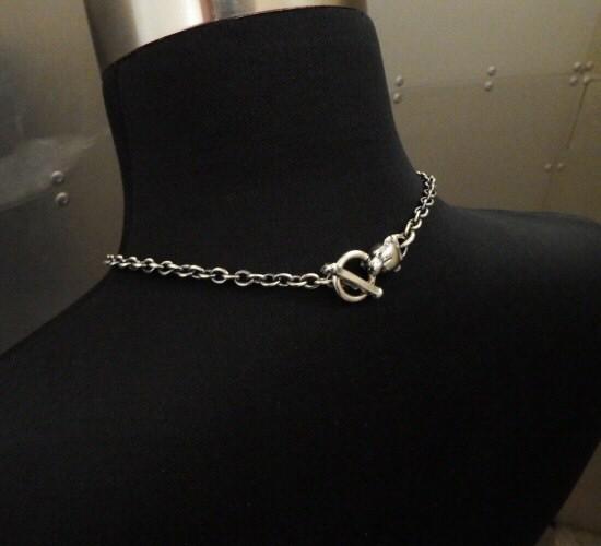 画像2: 6Chain with quarter panther & quarter T-bar necklace