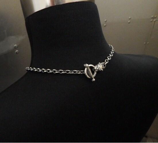 画像2: 6Chain with quarter old bulldog & quarter T-bar necklace