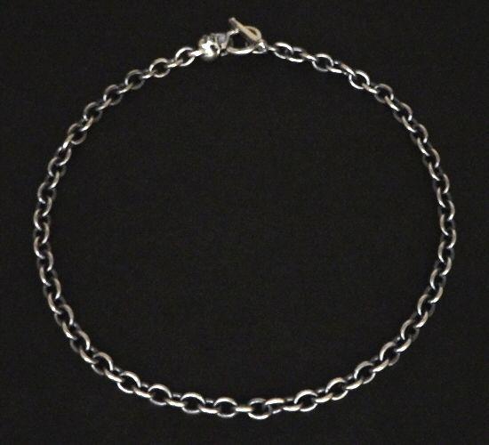 画像3: 7Chain with quarter skull & quarter T-bar necklace