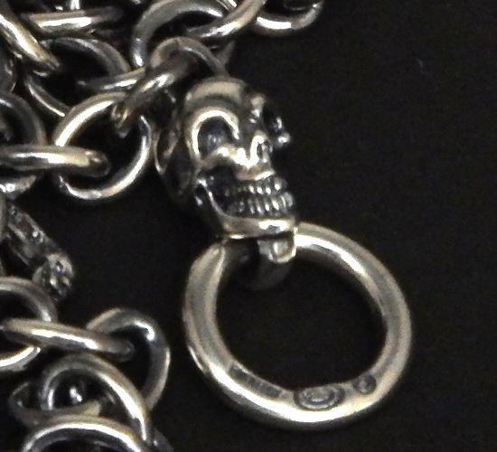 画像5: 7Chain with quarter skull & quarter T-bar necklace