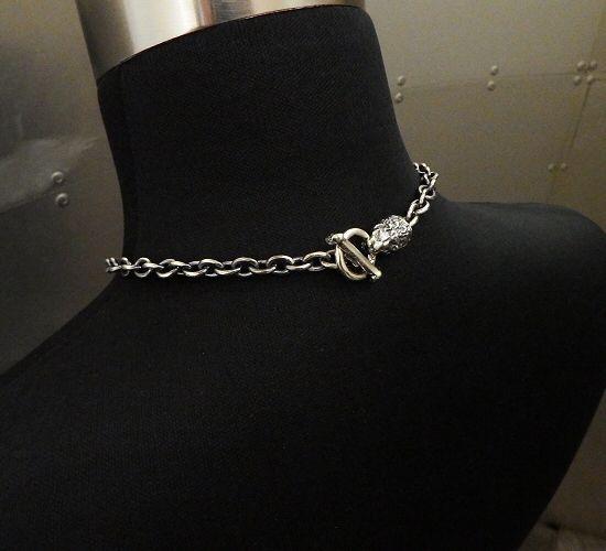 画像2: 7Chain with quarter lion & quarter T-bar necklace