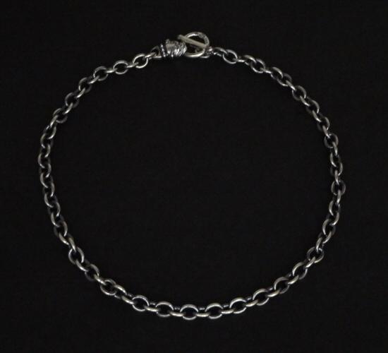 画像3: 7Chain with quarter old bulldog & quarter T-bar necklace