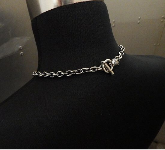 画像2: 7Chain with quarter bulldog & quarter T-bar necklace