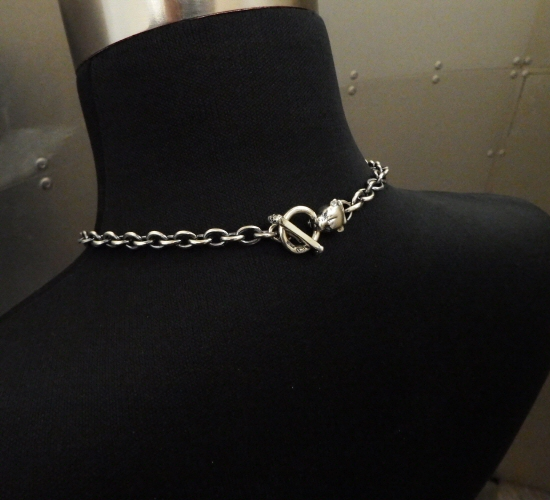 画像2: 7Chain with quarter panther & quarter T-bar necklace
