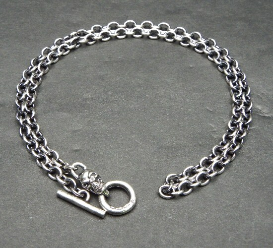画像3: 4.7Chain with 1/8 skull & 1/8 Classic T-bar Necklace