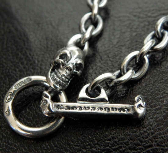画像2: 6Chain with 1/8 Skull & 1/8 T-bar Necklace