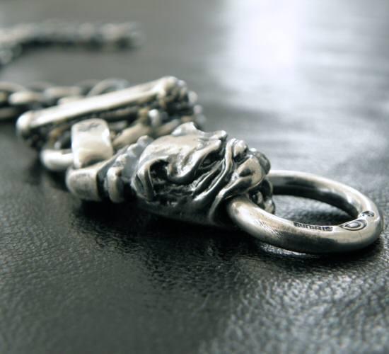画像4: Half old bulldog with O-ring & 7chain necklace
