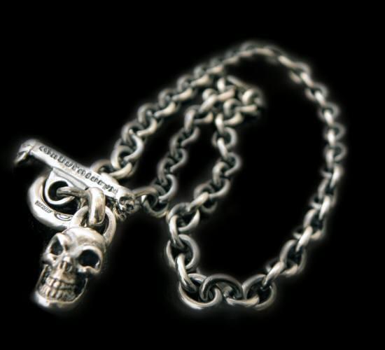 画像1: Half skull with O-ring & 7chain necklace