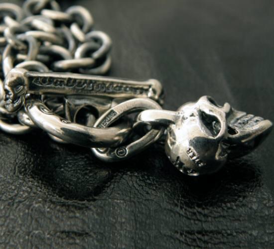 画像3: Half skull with O-ring & 7chain necklace
