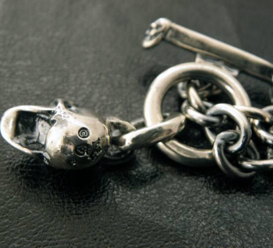画像4: Half skull with O-ring & 7chain necklace