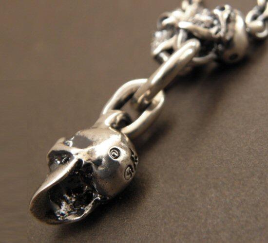 画像2: Half Skull With 2 Quarter Skulls & 6Chain Necklace
