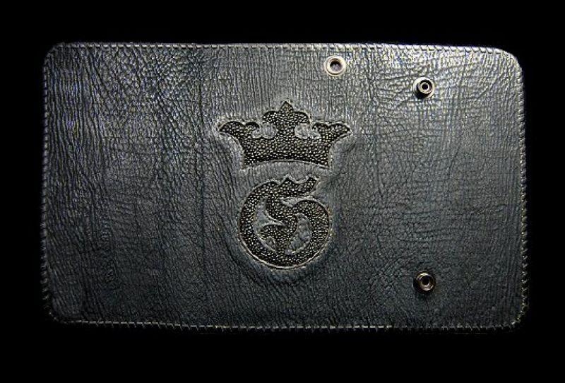 画像1: Stingray G&Crown Inlay Shark Long Wallet