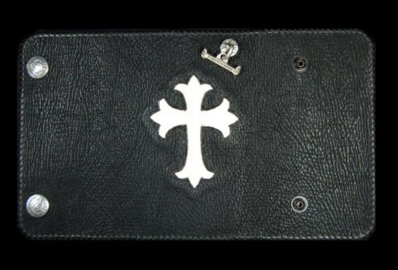 画像1: Stingray Cross Inlay Shark Long Wallet