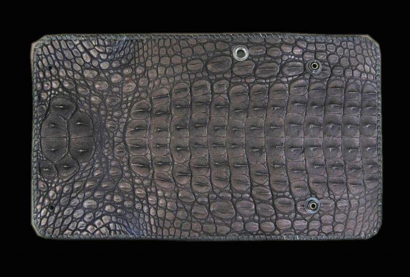 画像1: Crocodile Head&HornBack Long Wallet