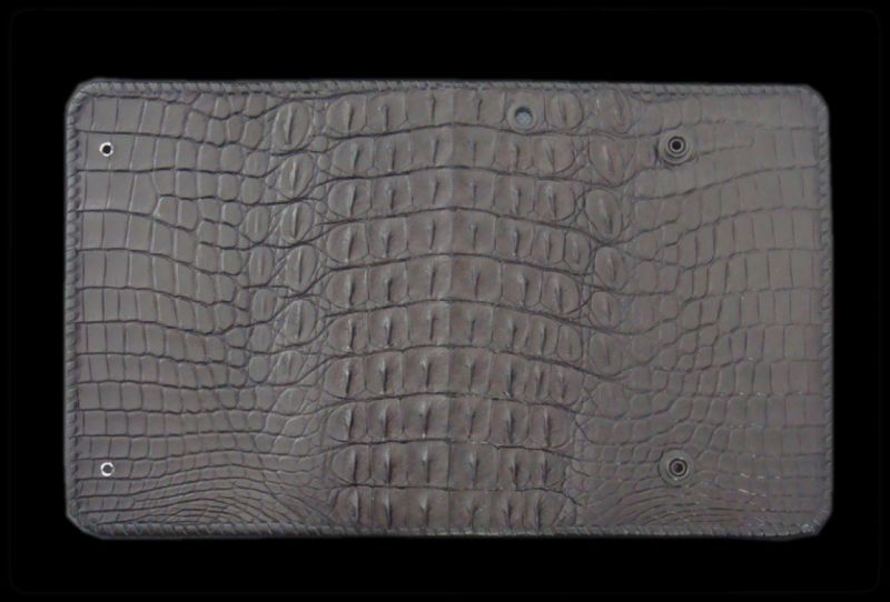 画像1: Crocodile Horn Back Long Wallet