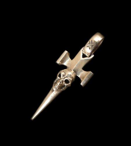 画像1: Quarter Single Skull Dagger Square Bottom & H.W.O Pendant