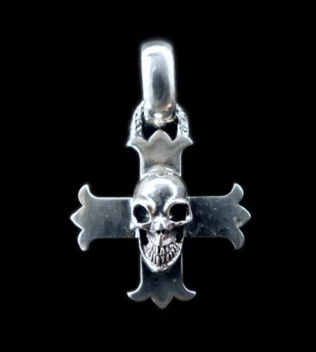画像1: Skull On Constantin Cross & H.W.O Pendant