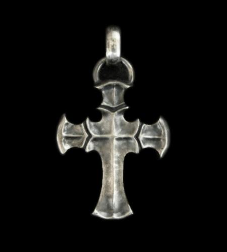 画像1: Half Battle-Ax Cross With H.W.O Pendant