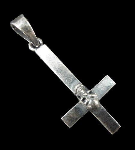 画像1: Skull On Plain Petro Cross Pendant [1/16]