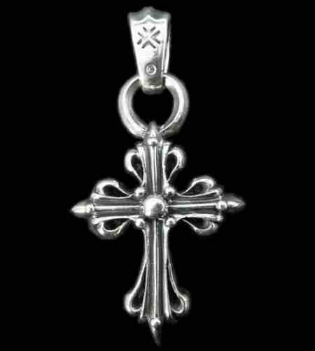 画像1: Half Art Nouveau Cross Pendant