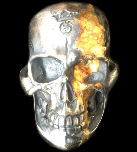 画像1: 18K Gold Blood On Large Skull Ring Big Boy Ver.